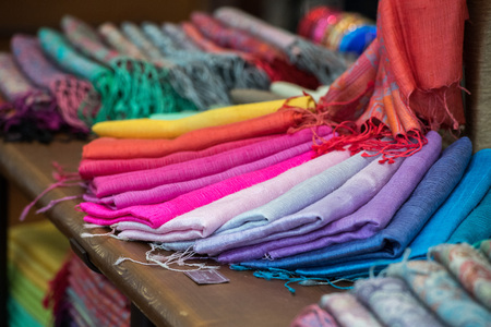 cotton fabric: Various different colors silk fabric cloth
