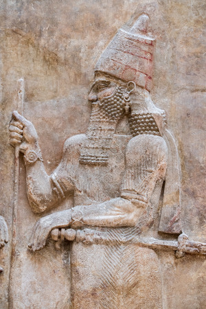 Ancient Babylonia and Assyria sculpture painting from Mesopotamia