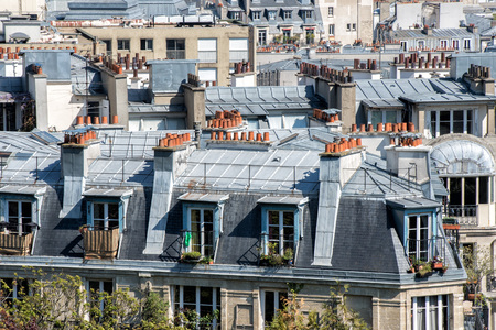 paris roofs and cityview landscape Stock Photo
