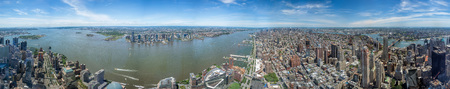 NEW YORK 360 degrees cityview from highest in the city freedom tower Imagens