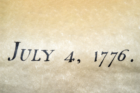 declaration: American Declaration of independence 4th july 1776 detail