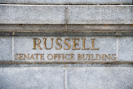 russel: russel building senate capitol in washington dc view