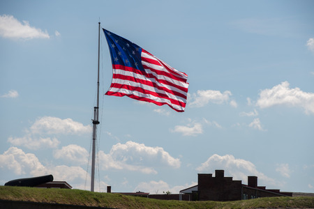 fort mchenry baltimore usa america flag close up Reklamní fotografie