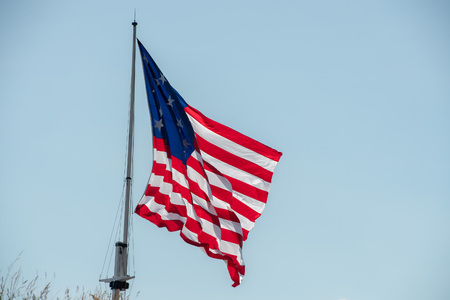 maryland: fort mchenry baltimore usa  america flag close up