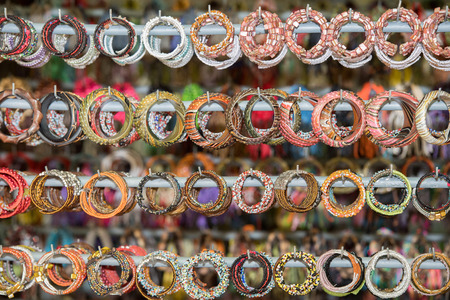 display stand: Bracelets in indonesia market on display stand for sale