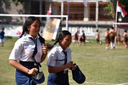 dominacion: Ubud, Indonesia - 17 de agosto 2016 - D�a de la Independencia de la dominaci�n holland 17 de de agosto de 1945 est� celebrando en todo en el pa�s
