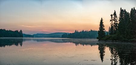 parc: Lake Sunrise in Quebec Canada Parc de la Mauricie landscape