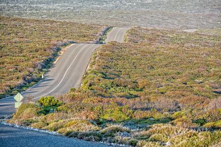 endless road: South Australia Desert endless road in kangaroo island panorama wild landscape