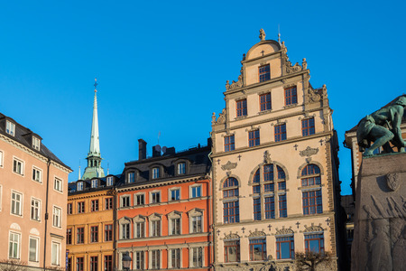 stan: stockholm view gamla stan old town detail Stock Photo