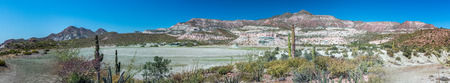 Mexico baja california landscape beautiful colors panorama desert road Stock Photo
