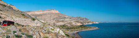 Baja California desert and ocean landscape view panorama