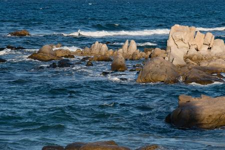 Cabo Pulmo Baja California national park panorama landscape Stock Photo