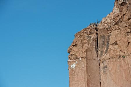 human shape rock in baja california tropical paradise panorama