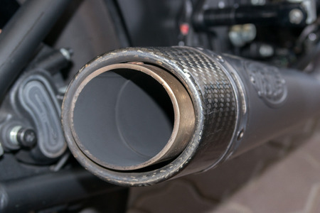 Motorbike Harley detail engine close up Stock Photo
