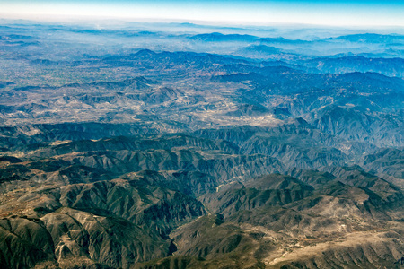 mountains near mexico city aerial view landscape from airplane leon city guadalajara