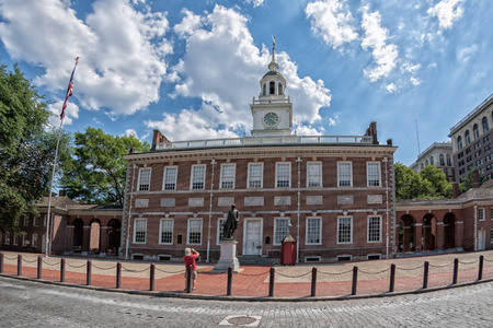 Philadelphia independence hall building on sunny day Stock Photo