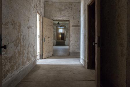 psychiatric: abandoned psychiatric hospital interior rooms view Stock Photo