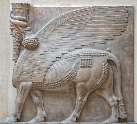 古代のバビロニアそしてアッシリアの彫刻絵画メソポタミアから