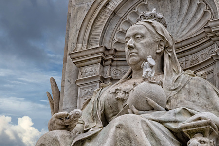 webb: LONDON, ENGLAND - JULY 15 2017 -  queen victoria victory monument in london close up detail is one of the city most visited places