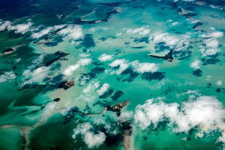 Florida Miami aerial view panorama landscape everglades from airlplane