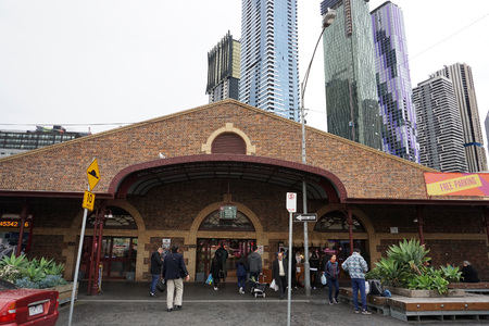 MELBOURNE, AUSTRALIA - AUGUST 15 2017 -  Queen Victoria Marjet is home of fresh, local produce and where the community comes to shop, meet, eat, drink