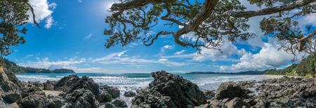 Onetangi Beach Waiheke Island New Zealand panorama landscape