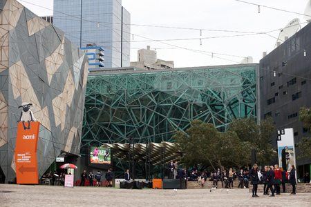 MELBOURNE, AUSTRALIA, AUGUST 16 2017 - Melbourne is the capital and most populous city of Victoria, students and tourist in Cultural Center