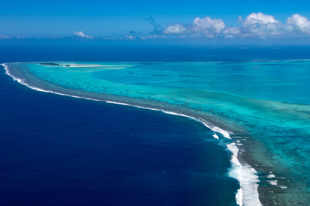 Aitutaki Polynesia Cook Islands aerial view panorama landscape Reklamní fotografie