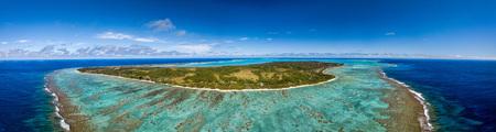 Aitutaki Polynesia Cook Islands aerial view panorama landscape