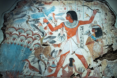 Egypt Hieroglyphics in valley of Kings close up detail