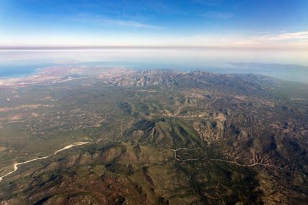 La Paz San Jose del Cabo Baja California Sur Mexico aerial view  Stock Photo