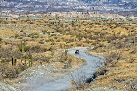 4x4 driving in Mexico baja california desert endless road
