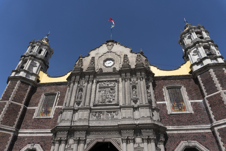 MEXICO CITY, MEXICO - NOVEMBER 4 2017 - Basilica houses original cloak with the image of Our Lady of Guadalupe visited by million people every year expecially in December.