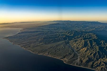 Puerto Vallarta coast Mexico aerial view landscape from airplane Leon city Guadalajara