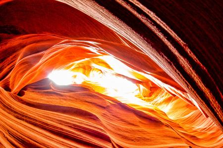 Antelope Canyon lights and rocks arizona usa Фото со стока