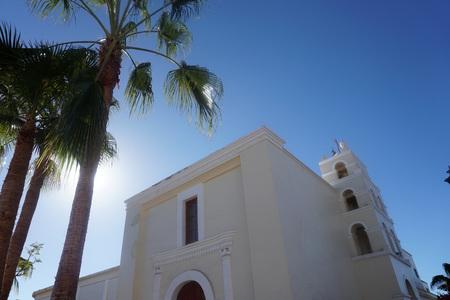 mision Todos Santos white church Mexico Baja California Sur