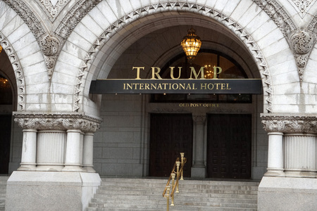 WASHINGTON DC, USA - MAY 16 2018 - Post Office is now Trump International Hotel. Listed on the National Register of Historic Places completed in 1899 Editorial