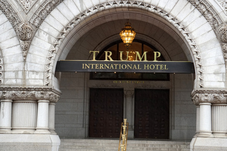 WASHINGTON DC, USA - MAY 16 2018 - Post Office is now Trump International Hotel. Listed on the National Register of Historic Places completed in 1899 에디토리얼