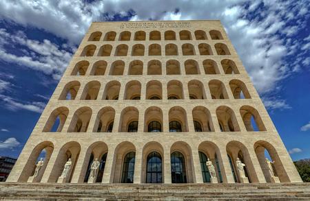 Rome Eur Palace square coliseum building