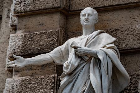 Cicero Cicerone statue in Rome Editorial