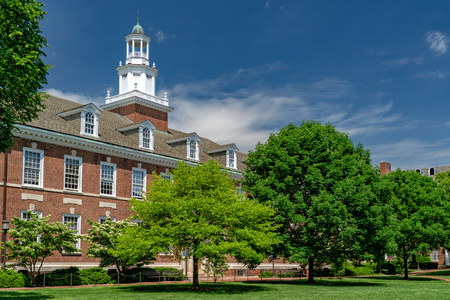 BALTIMORE, USA - MAY 21 2018-  john hopkins university in Baltimore  Maryland is the worldiwide know educational school