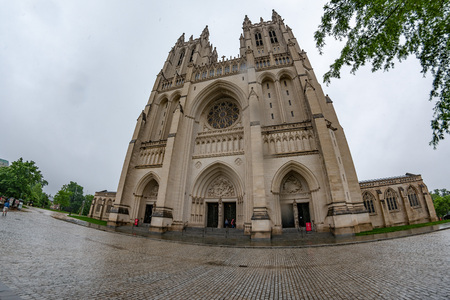 Church of Saint Peter and Saint Paul known as Washington National Cathedral, is a Neo-Gothic design built in 1907. Stock Photo