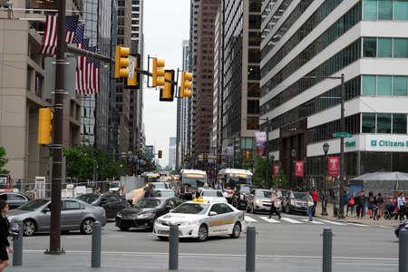PHILADELPHIA, USA - MAY 23 2018 - Mural Arts Philadelphia is the nation's largest public art program