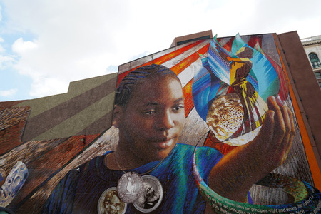 PHILADELPHIA, USA - MAY 23 2018 - Mural Arts Philadelphia is the nation's largest public art program Editorial