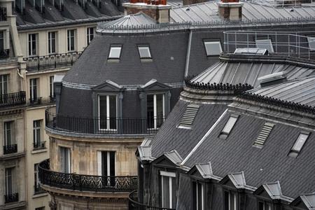 paris roof chimney and cityview landscape
