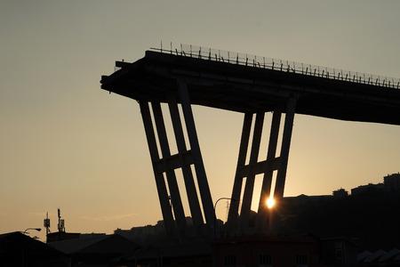 morandi collapsed bridge in genoa italy