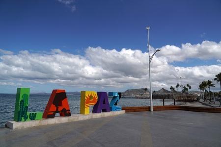 La Paz Baja California Sur, Mexico beach near the sea promenade called Malecon
