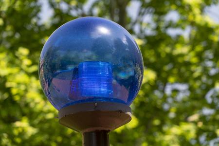 police blue light sphere globe alarm