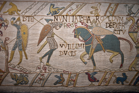 bayeux medieval tapestry battle england france detail close up