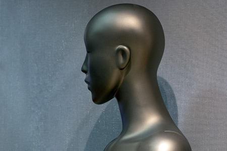 Woman female mannequin in a store detail